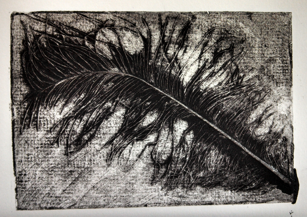 Printmaking: Collagraph tests